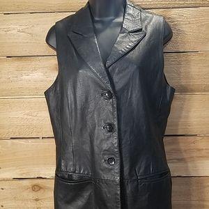 Pairs sports club black Leather vest